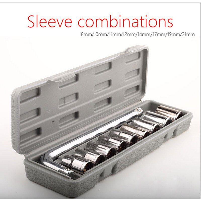 Aiwa TM Plastic Socket Wrench Set  Grey, 10 Pieces