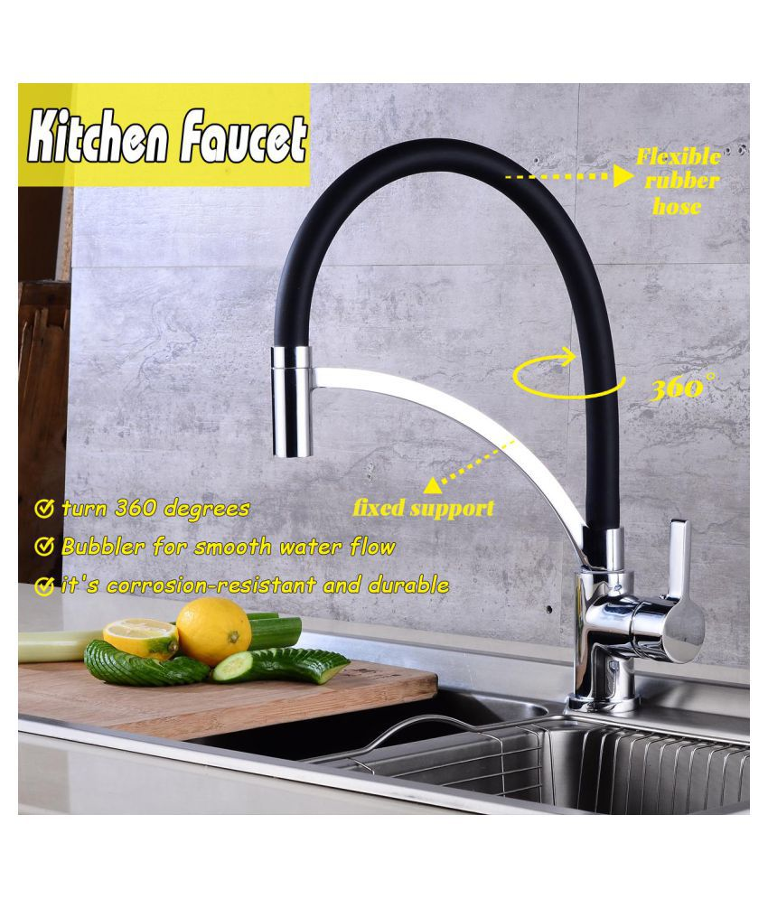 Buy 360rotation Kitchen Sink Faucet Pull Down Spout Deck Mounted Bathroom Mixer Tap Online At Low Price In India Snapdeal