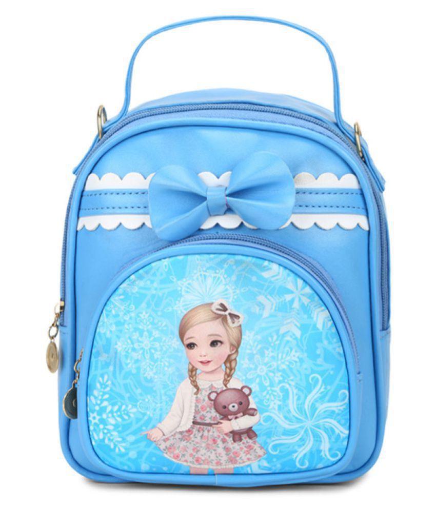Aliado Blue Synthetic College Bag