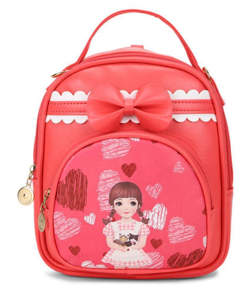 Aliado Red Synthetic College Bag