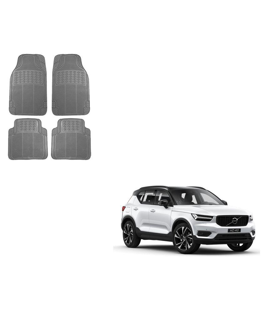 Auto Addict Car Simple Rubber Grey Mats Set of 4Pcs For Volvo XC40