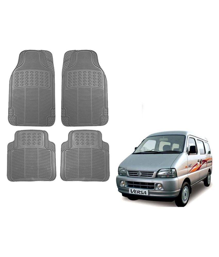 Auto Addict Car Simple Rubber Grey Mats Set of 4Pcs For Maruti Suzuki Versa