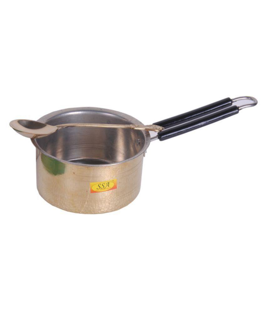 Shiv Shakti Arts Brass SaucePan1800ML 1 Piece Cookware Set