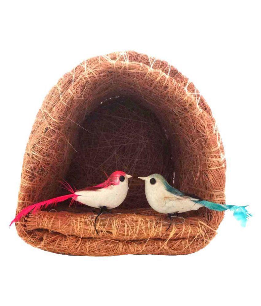 STE Jute coir craft bird nest Decorative Cage Brown - Pack of 1