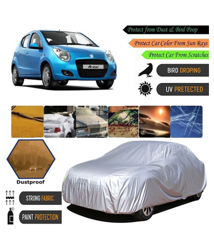 COVER POINT Car Body Cover for Maruti Suzuki A-Star [2008-2012] (Silver)