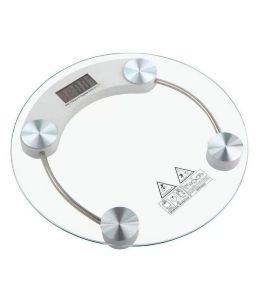 PGS Electronic 8mm rounf thick tempered glass personal digital weighting scale scale no 1 TRANSPARENT