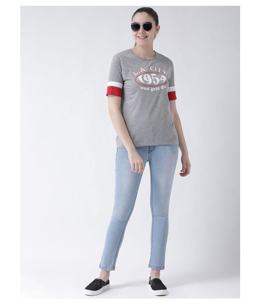 Club York Poly Cotton Grey T-Shirts