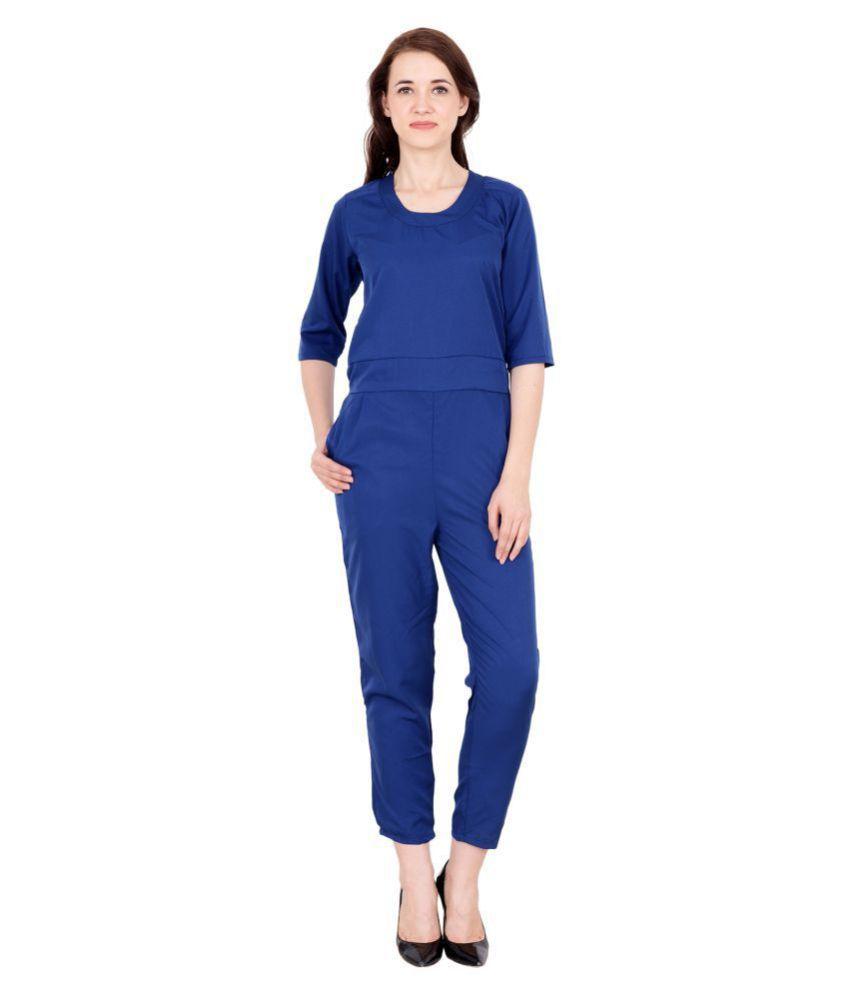 My Swag Blue Crepe Jumpsuit