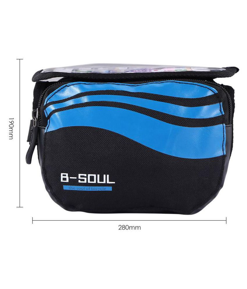 B-SOUL Bicycle Front Beam Nylon Package Waterproof Mountain Bike Saddle Bag #HE