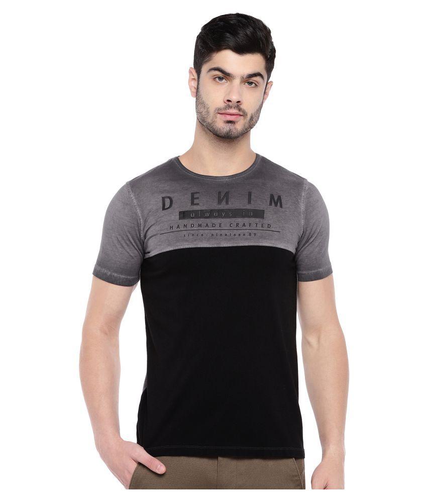 Killer 100 Percent Cotton Grey Solids T-Shirt