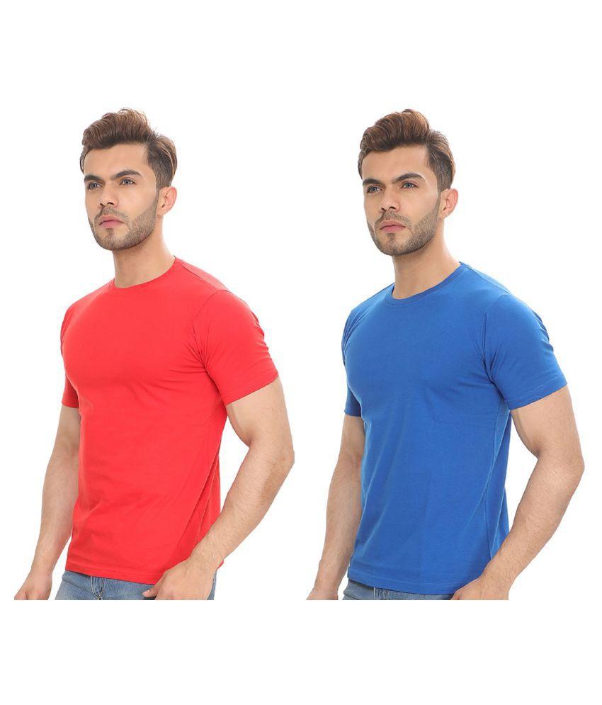 Sleepynuts 100 Percent Cotton Red Solids T-Shirt