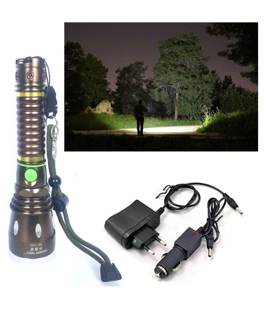 Texme 7W Flashlight Torch 9000LM  3 Mode torch - Pack of 1