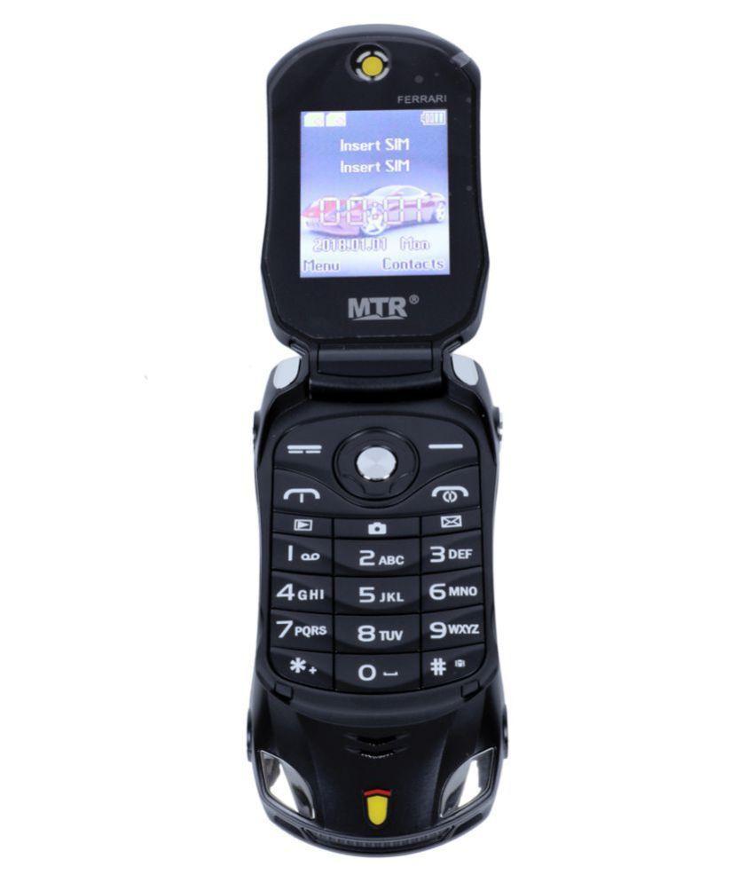 MTR FARARI CAR SHAPED FLAP MOBILE PHONE,DUAL SIM, 800 MAH BATTERY, CAMERA, BLUETOOTH, BIG SOUND, FM , BLACK
