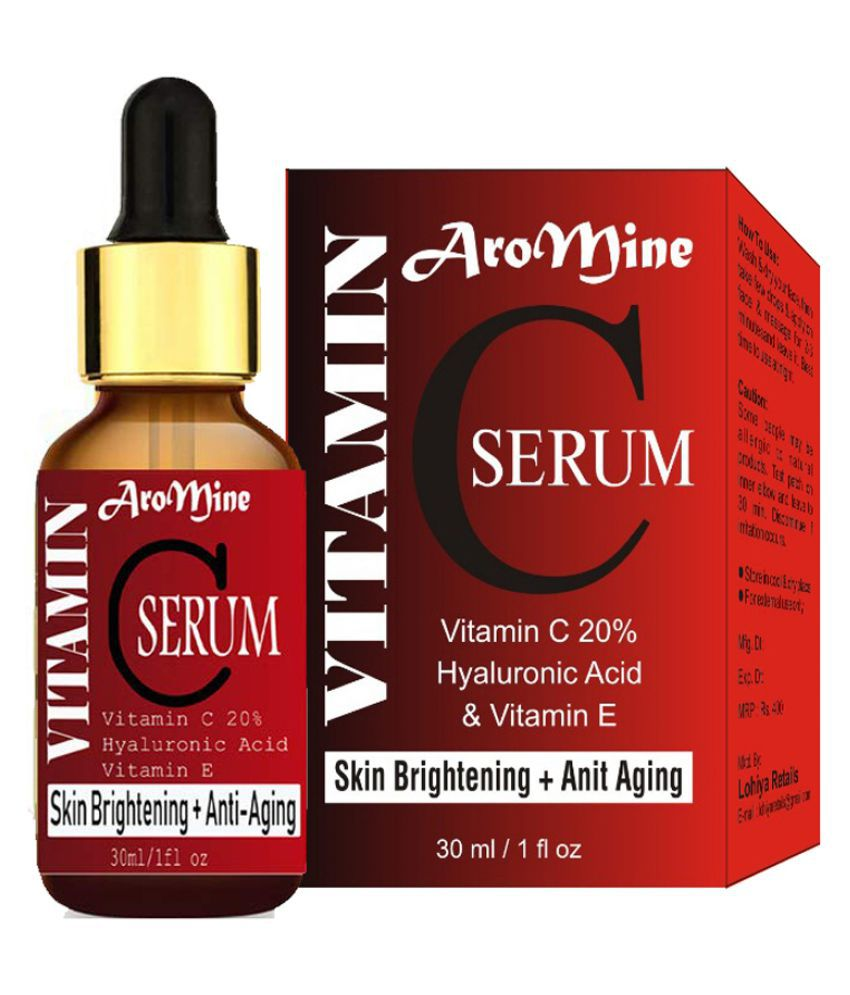 Aromine VITAMIN- C 20% SERUM - Skin Whitening & Anti Ageing- Face Serum 30 mL