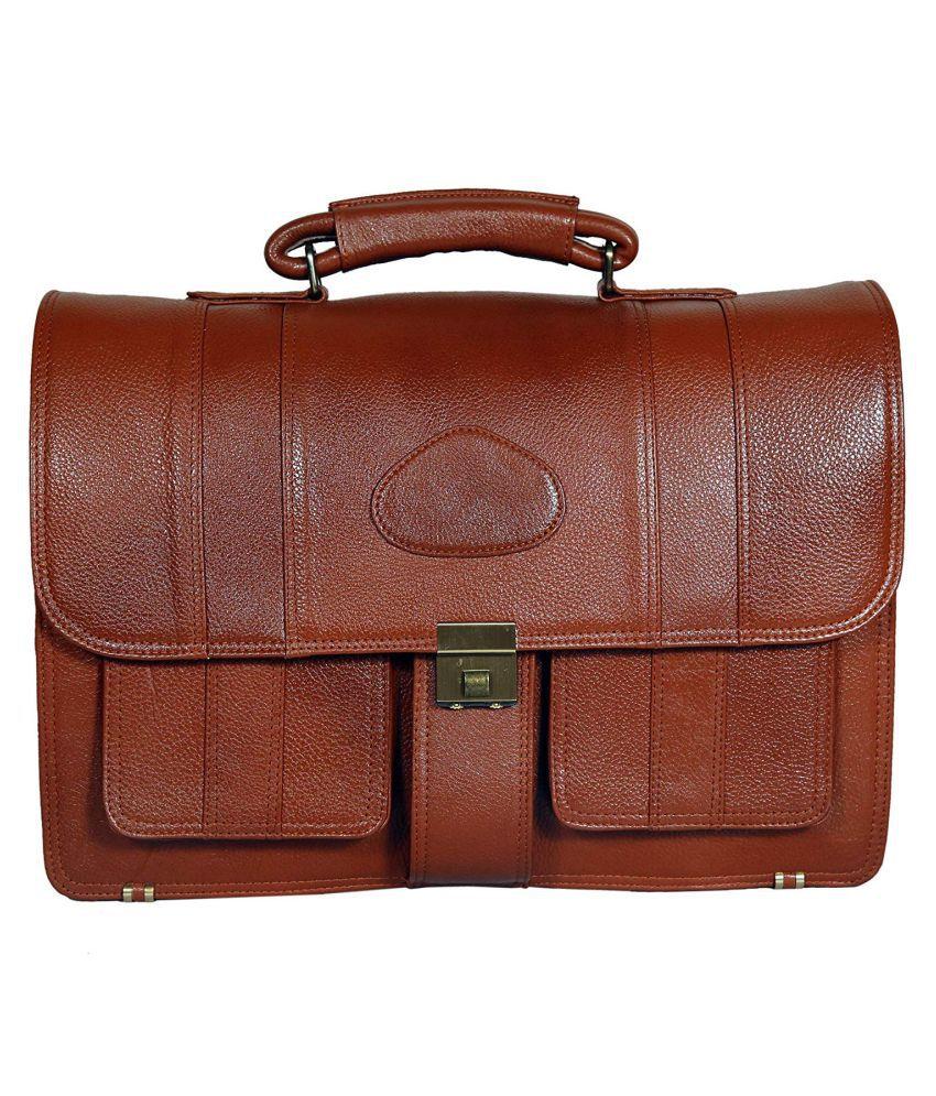 C Comfort Brown Casual Messenger Bag