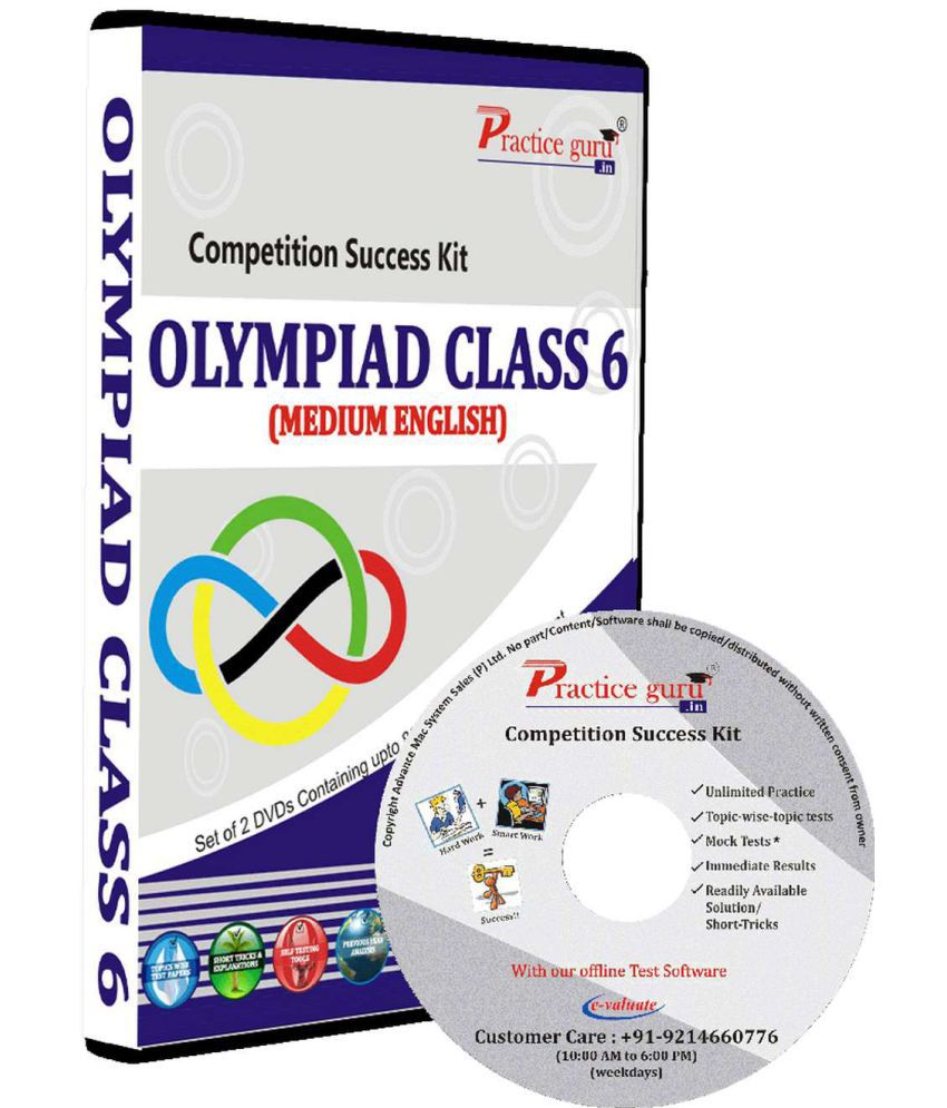 Practice Guru Test Series, Concept Videos, Study Notes  for Class 6 - Olympiads (IMO, NSO, IEO, NCO, NSTSE, NOTSE) DVD