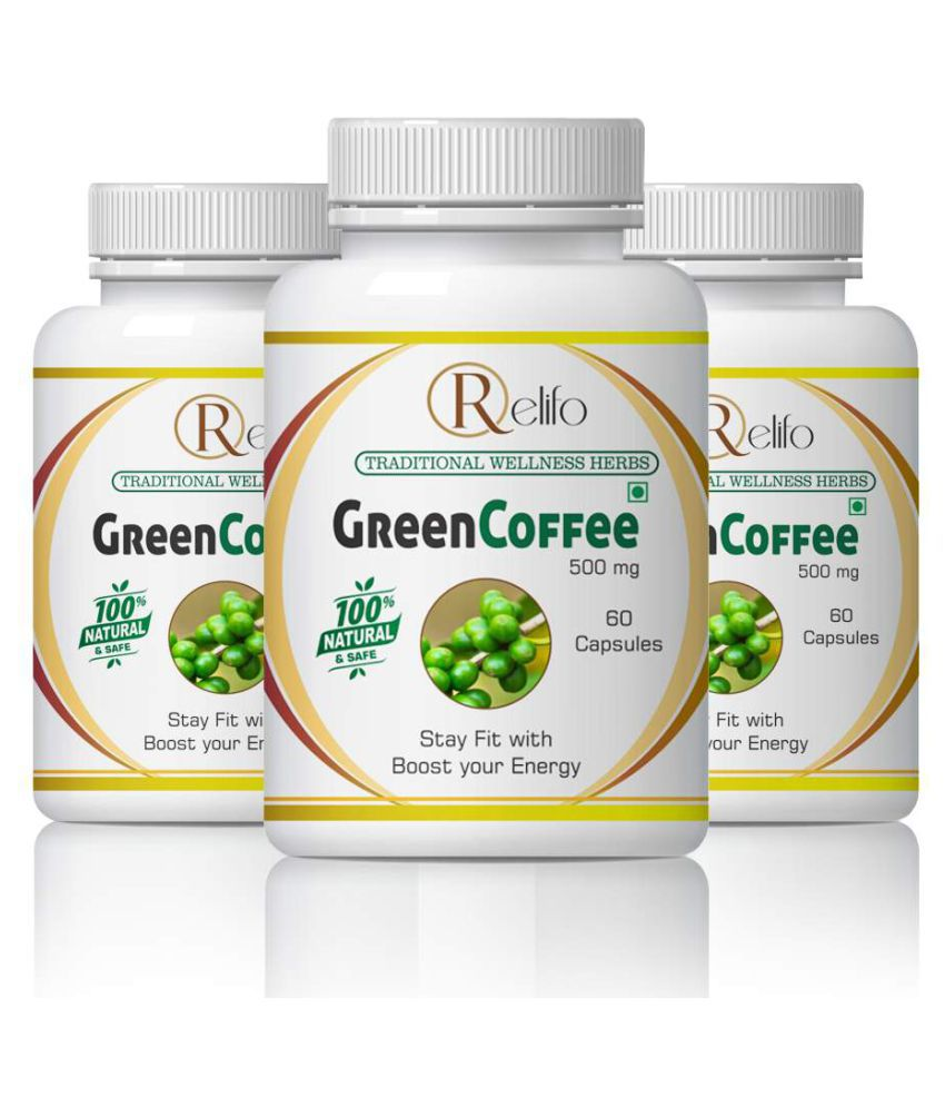 Relifo Green Coffee For Weight Loss Capsule 500 mg Pack of 3