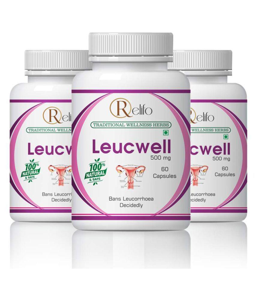 Relifo Natural Herbs Leucwell Capsule Capsule 500 mg Pack of 3