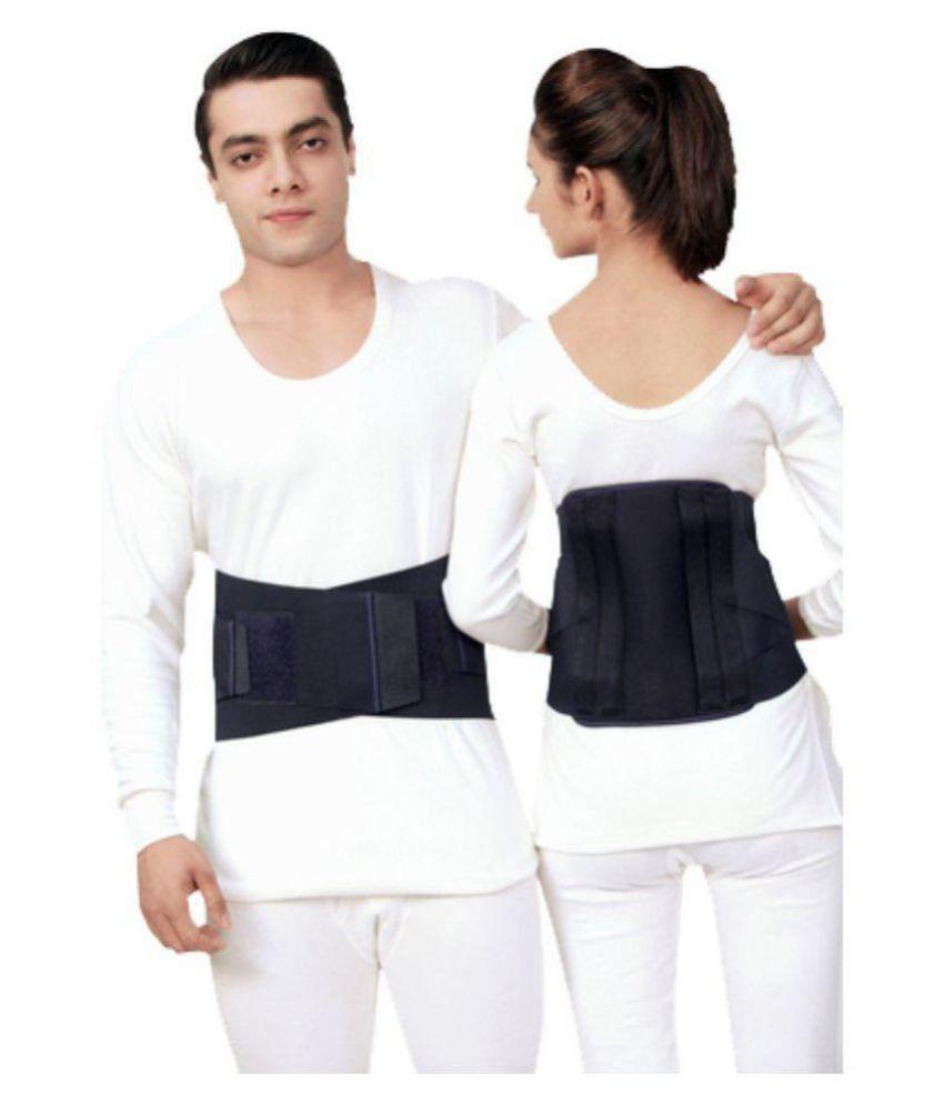 Witzion Contoured Lumbar Sacral Back Support Belt Black Abdominal Support S