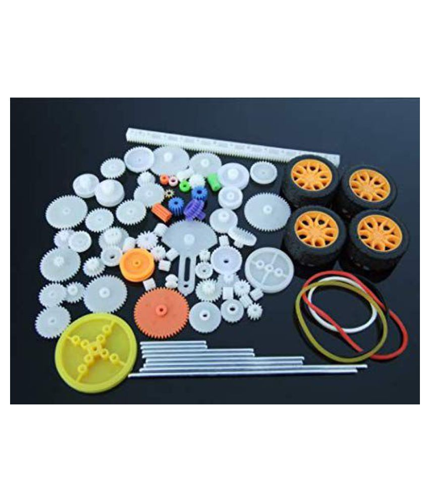78 Pieces//Set Plastic Shaft Single Double Crown Worm Gears for DIY Robot Kids Toy Model Making Craft