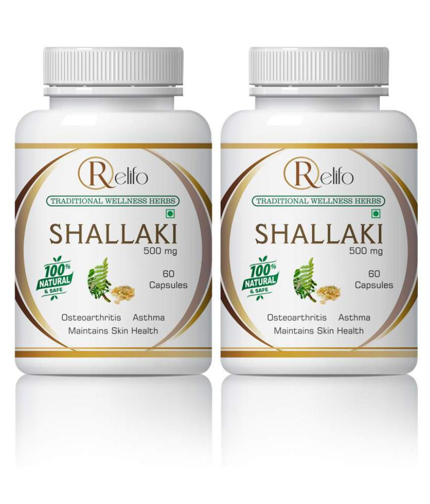 Relifo Shallaki Best For Muscles & Joint Pain Capsule 500 mg Pack Of 2