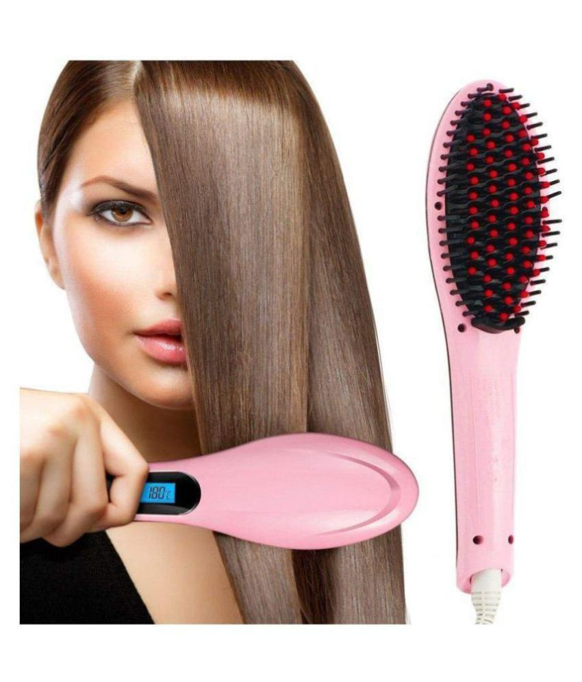 Techfire HQT-906 COMB Hair Straightener ( PINK )