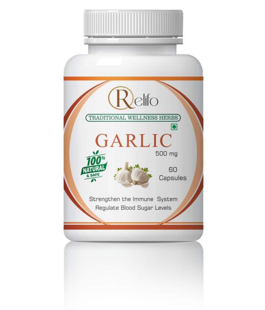 Relifo Garlic Best Diet &Improve Overall Health Capsule 500 mg Pack Of 1