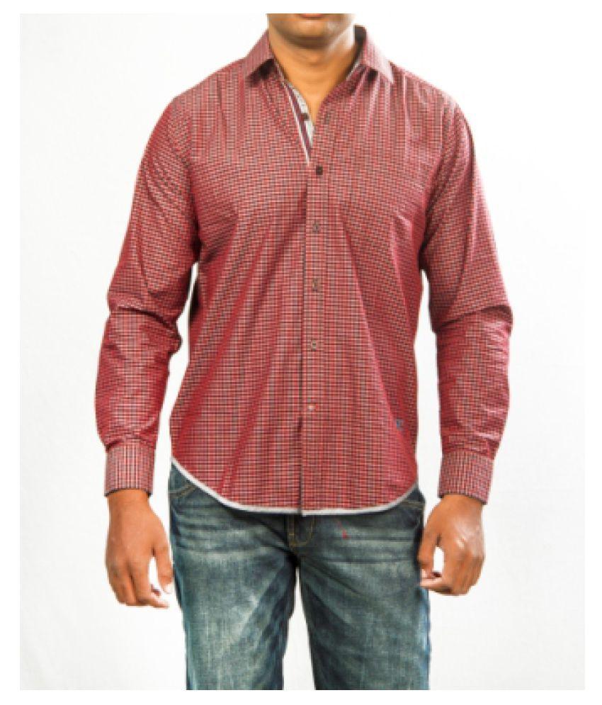 Red Chief 100 Percent Cotton White Checks Shirt