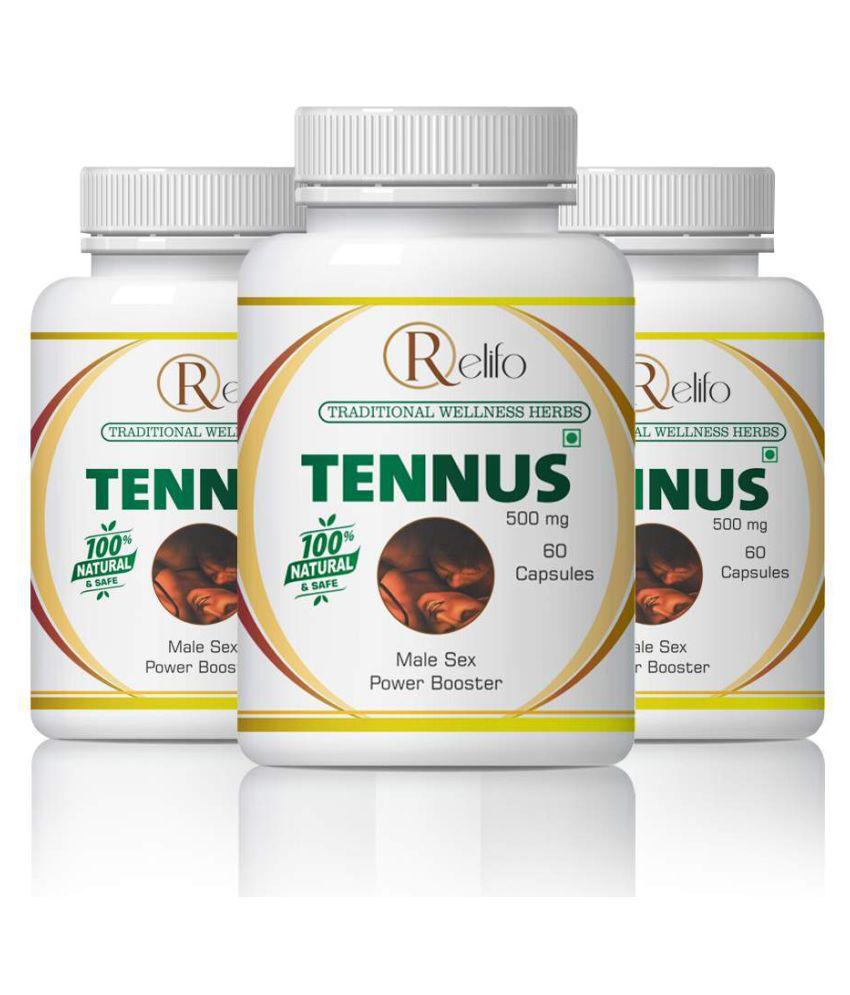 Relifo TENNUS STRENGTH STAMINA & POWER FOR MEN Capsule 500 mg Pack of 3