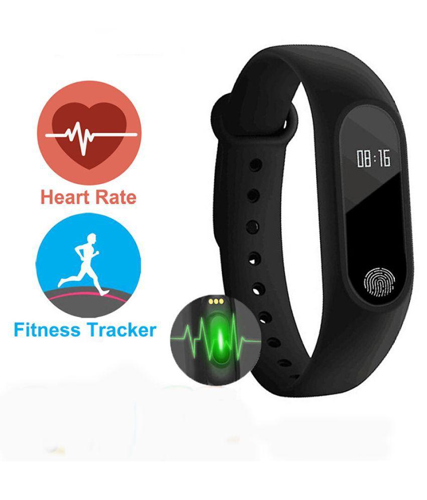 Waterproof Bluetooth Smart Bracelet Wristband Fitness Activity Tracker Smartband Heart Rate Telemeter Calorie Counter Sleep Monitor Black