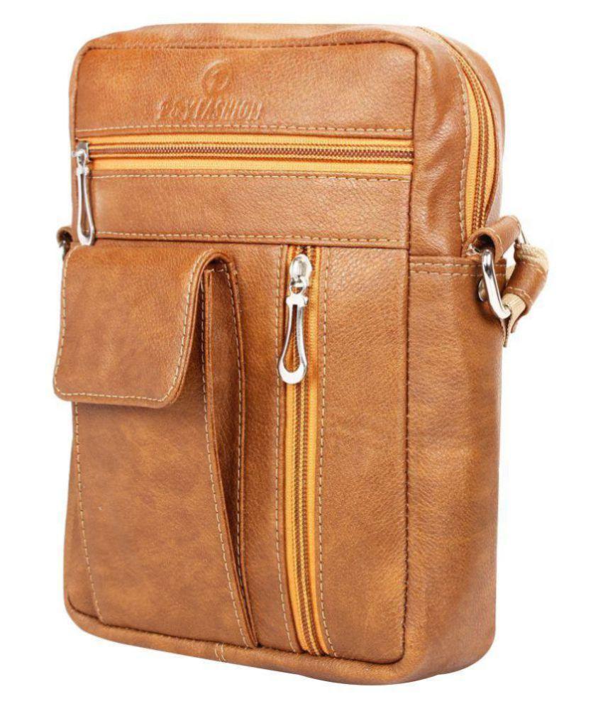 P&YFASHION YF0001 Brown P.U. Casual Messenger Bag