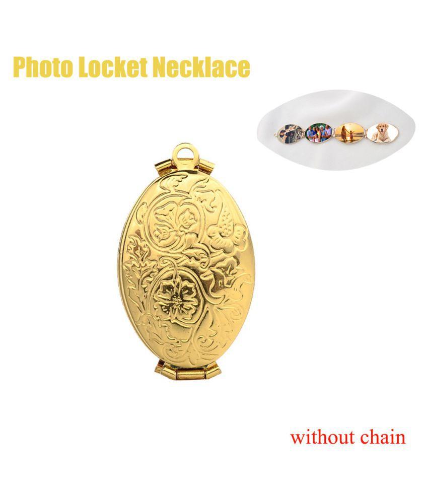 Expanding Photo Necklace Pendant Oval Foldable Multi Layer Photo Box Jewelry (Fashion Jewellery)