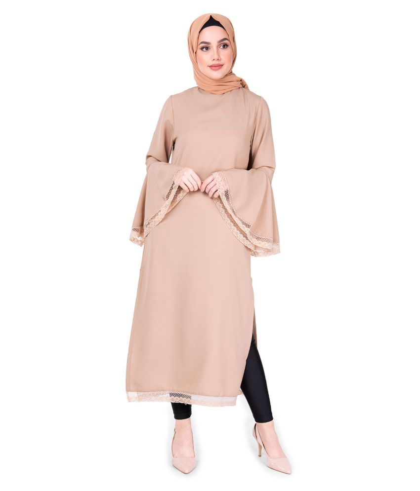 Silk Route London Polyester Brown Fit And Flare Dress