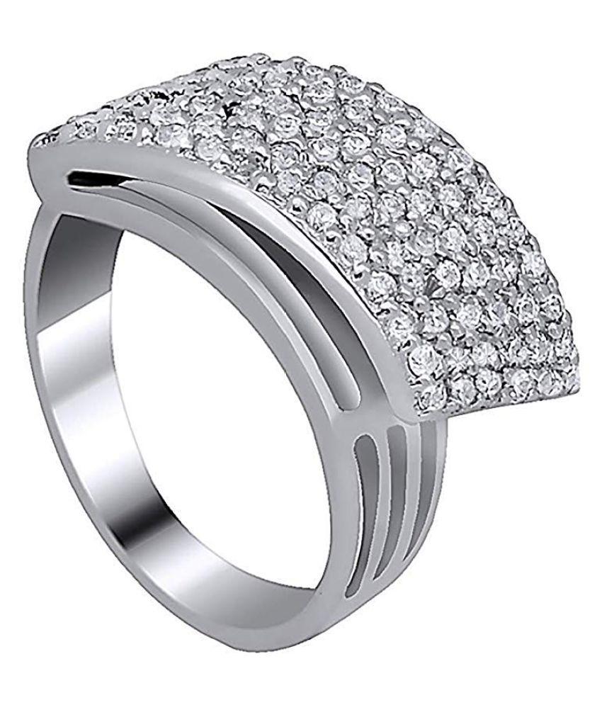 Tiara ornaments 92.5 Silver Swarovski Ring