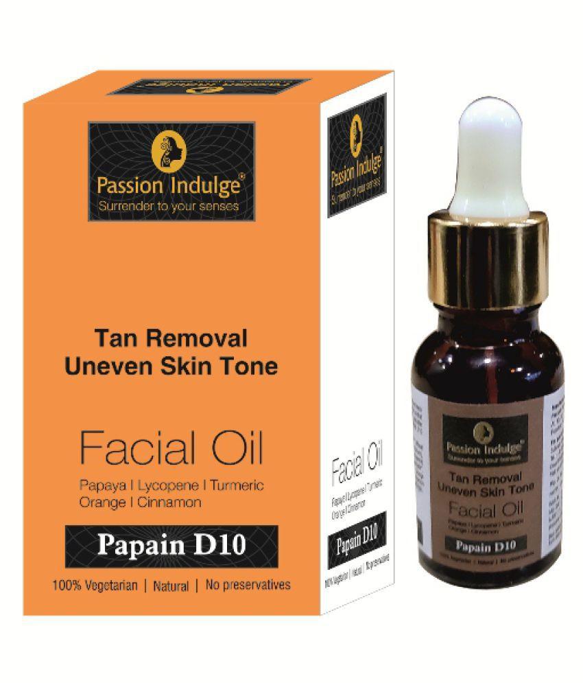 Passion Indulge Pvt Ltd Passion Indulge Papain D10 Facial Oil Face Serum 10 mL