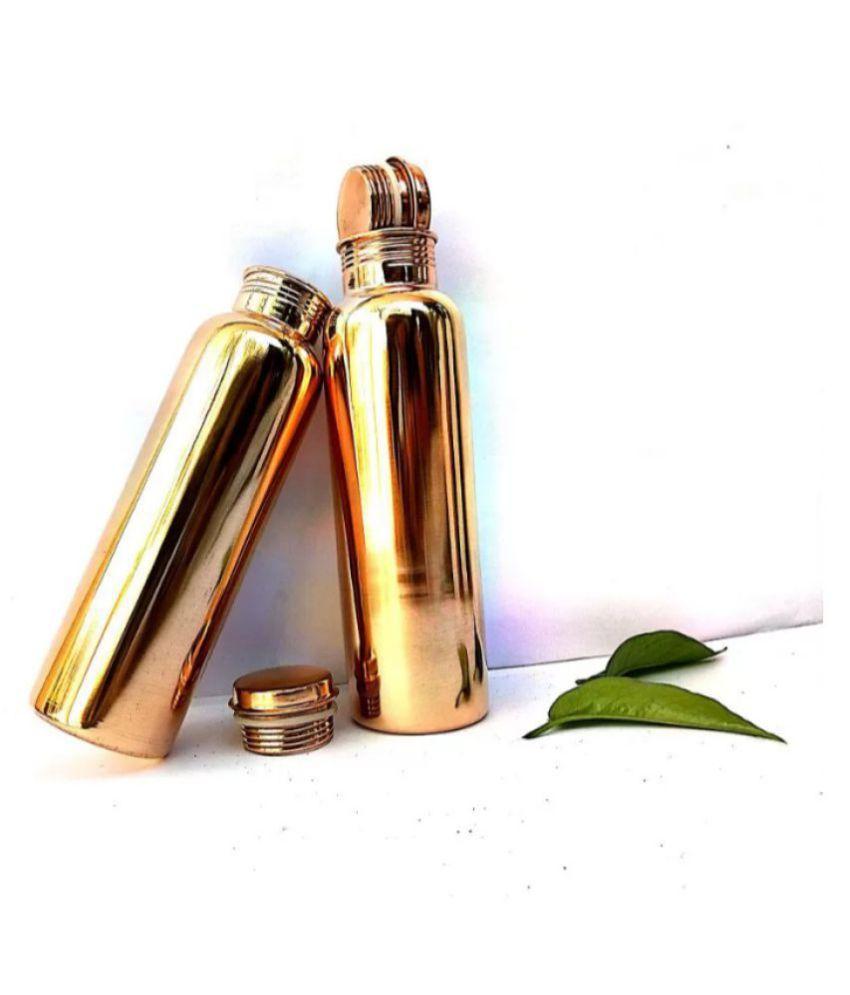 SHREE PAVITRA Gold 1000 mL Copper School bottle set of 1
