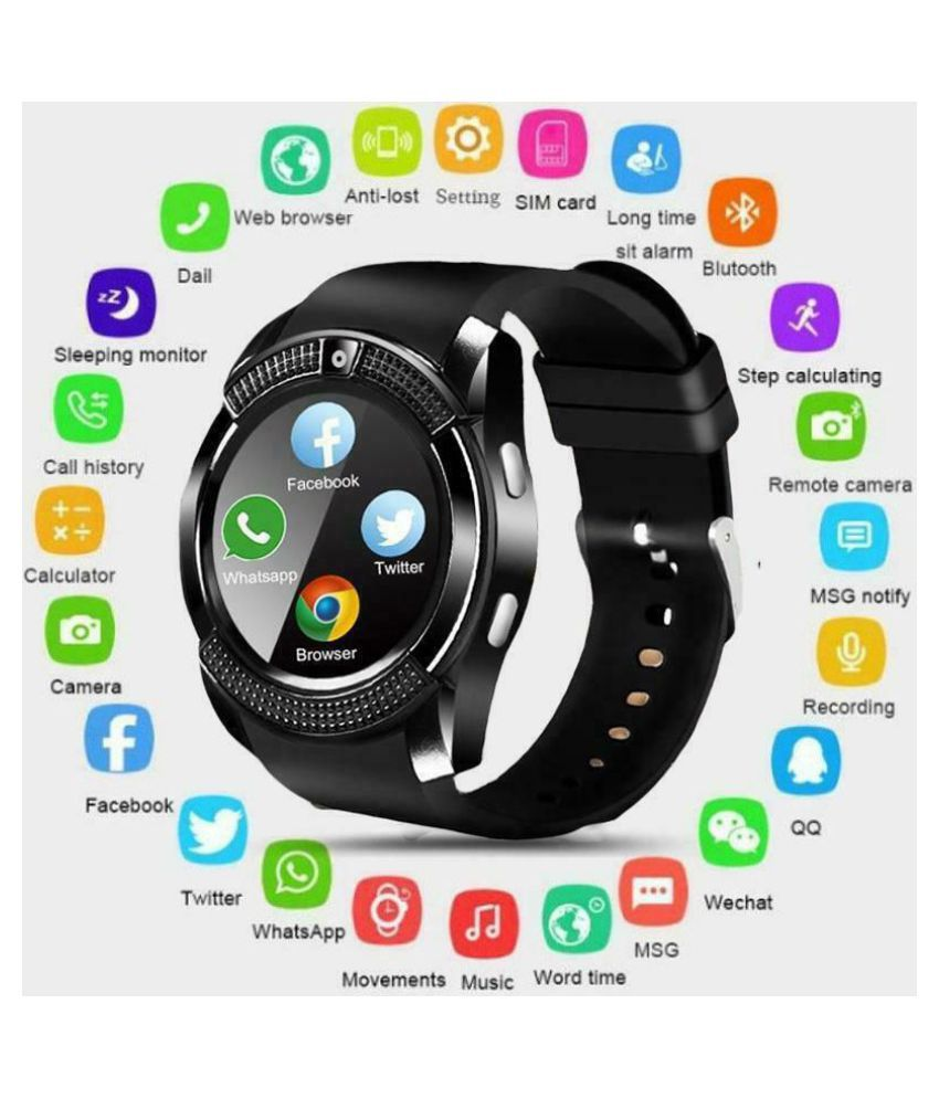 H&G Gadgets Hub V8 Smart Watch Smart Watches Brown