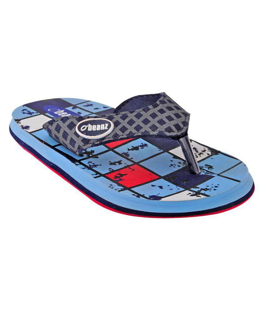 Beanz  Navy/ Red Soft Comfy Beach/Homewear Flip Flop Kids Footwear