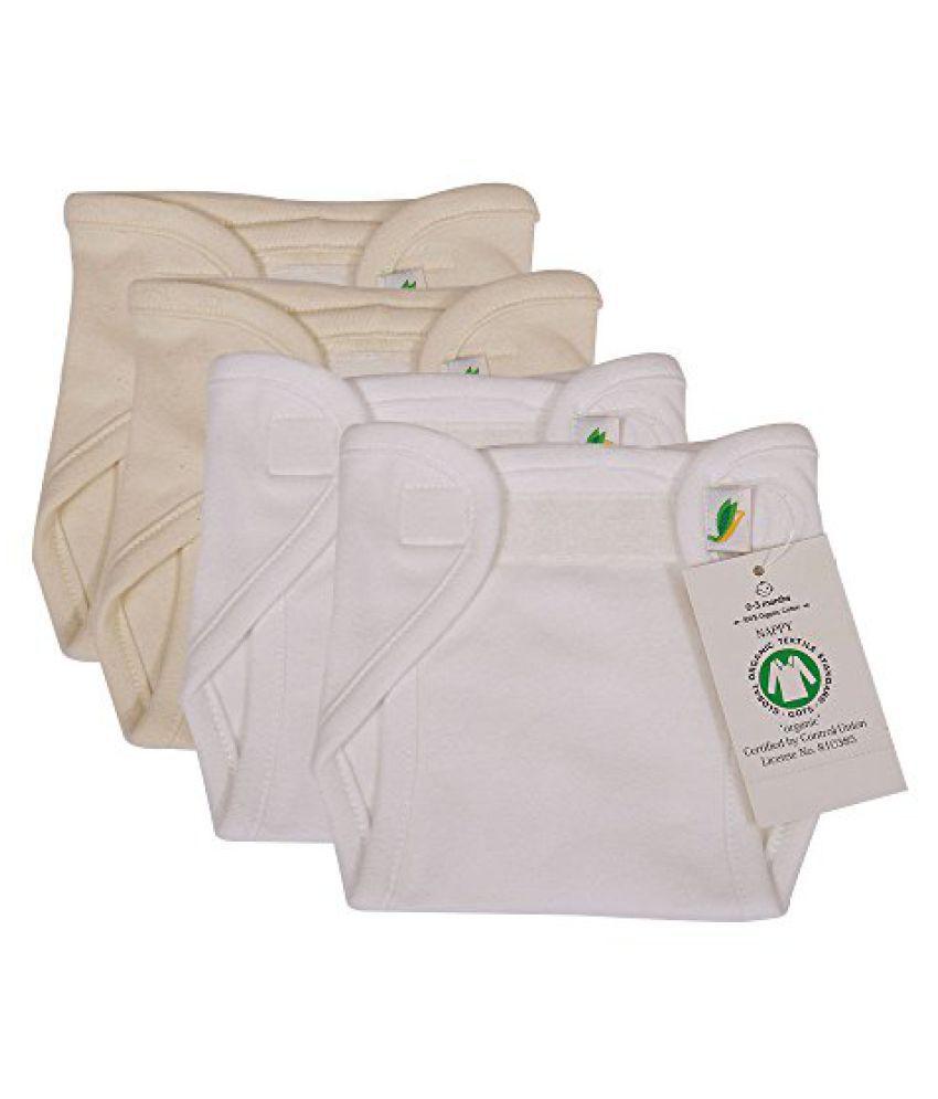 Kural33 Organic Cotton Knit Nappy ( 3-6 Months Set of 4 )