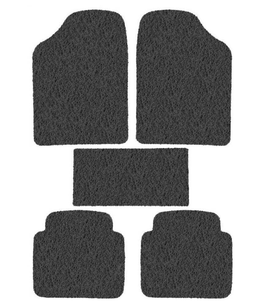Car Rubber Foot Mat Black Transparent Set Of 5 Pcs  For Skoda Superb