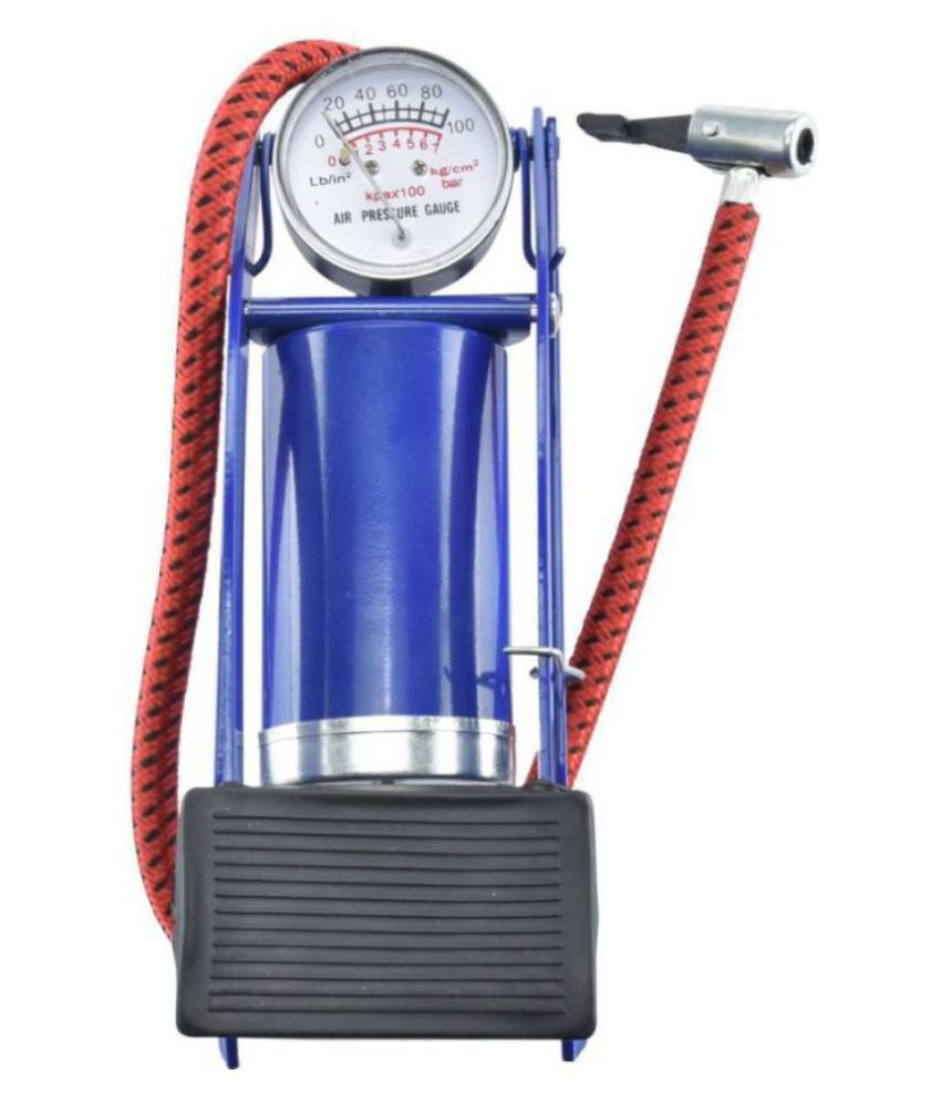 Yuvaan Traders Portable High Pressure Foot Pump/Air Tyre Inflator/Pump Compressor |for Bike/Car/Cycles & All Vehicles |Pack of 1