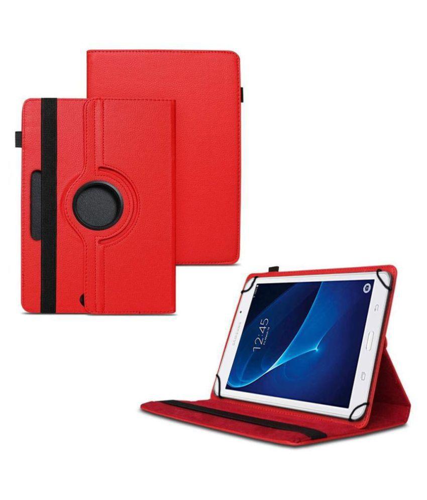 Samsung Galaxy J Max Tab Flip Cover By TGK Red