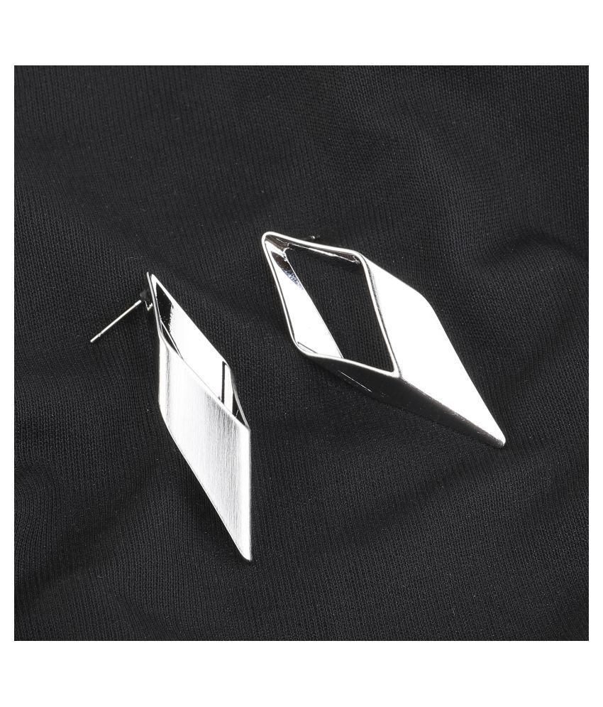 Silver Shine Silver Plated Mattifing Stylist Designer Partywear Earring For Girls and Women Jewellery