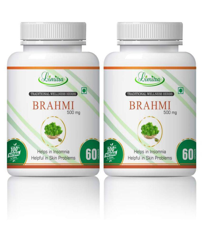 limitra Brahmi Helps In Skin , Hair & Memory Capsule 500 mg Pack Of 2