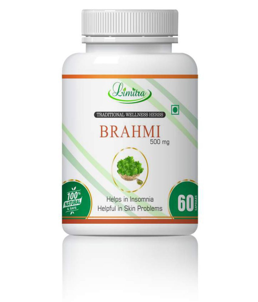 limitra Brahmi Stress Relief & Memory Booster Capsule 500 mg Pack Of 1