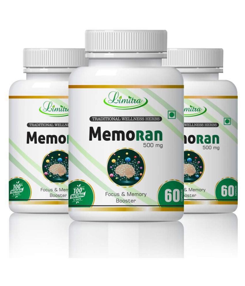 limitra Memoran For Improving Brain Function Capsule 500 mg Pack of 3