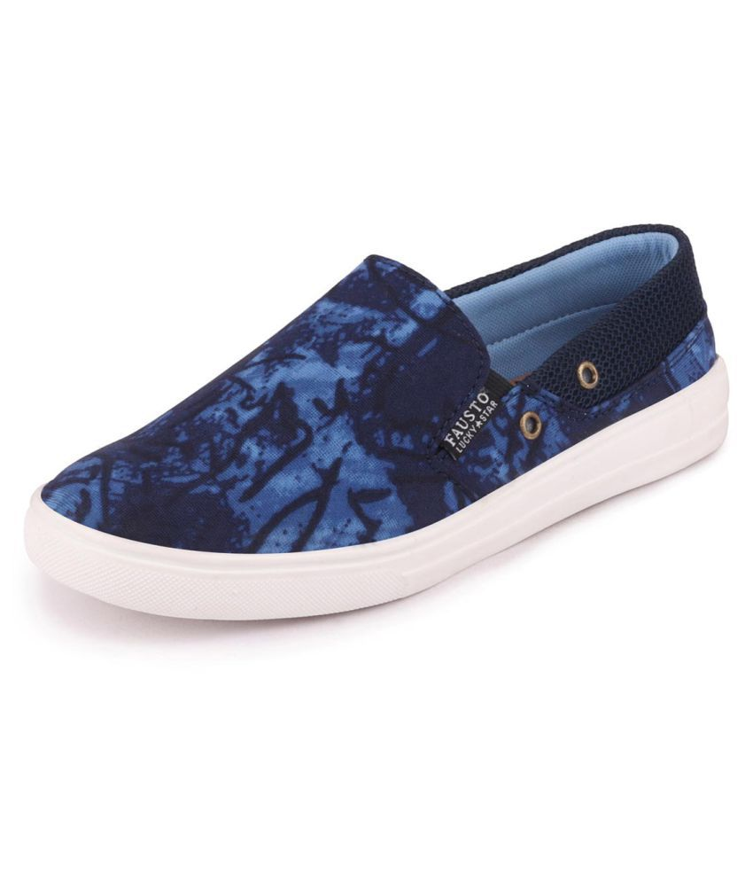 Fausto Blue Casual Shoes