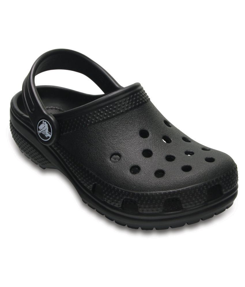 Crocs Classic Black Kids Clog