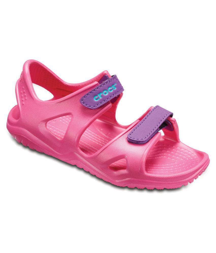 Crocs Swiftwater River Pink Kids Sandal