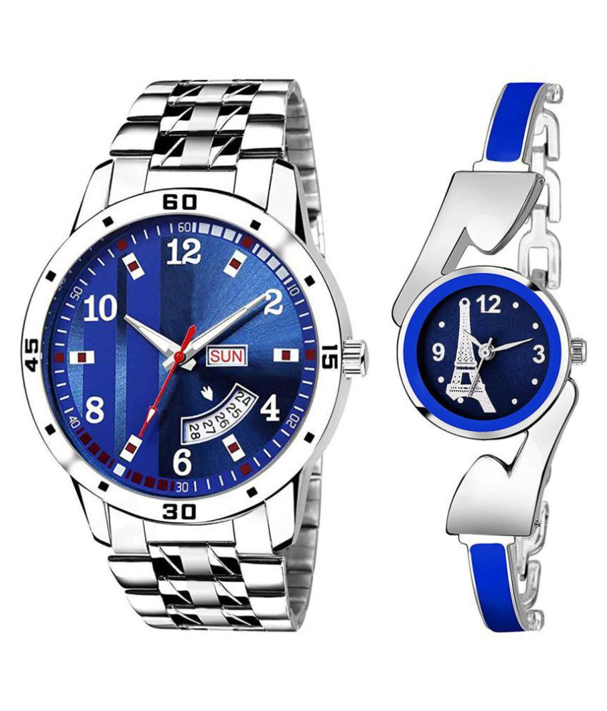 Day And Date New Stylish Couple Watch For Men And Women
